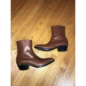 Mens Shoes Cow Leather Western Cowboy